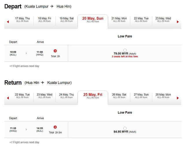 KL to Hua Hin AirAsia 02