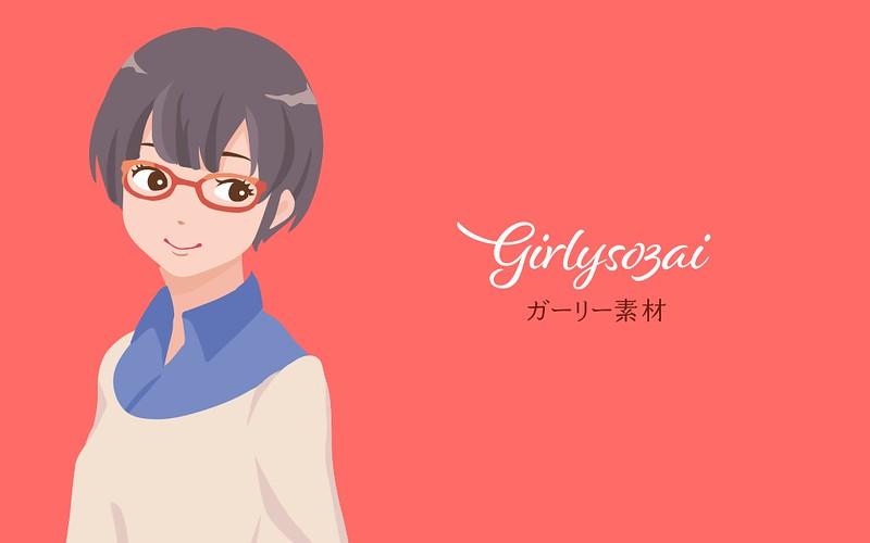 sapjil-free-illust-girlysozai