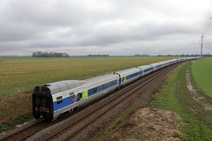 BB-75407 et rames de TGV radiés - Photo of La Croix-en-Brie