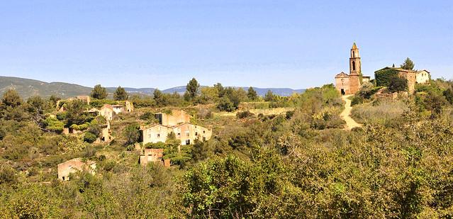 Sinister abandoned village, Spain