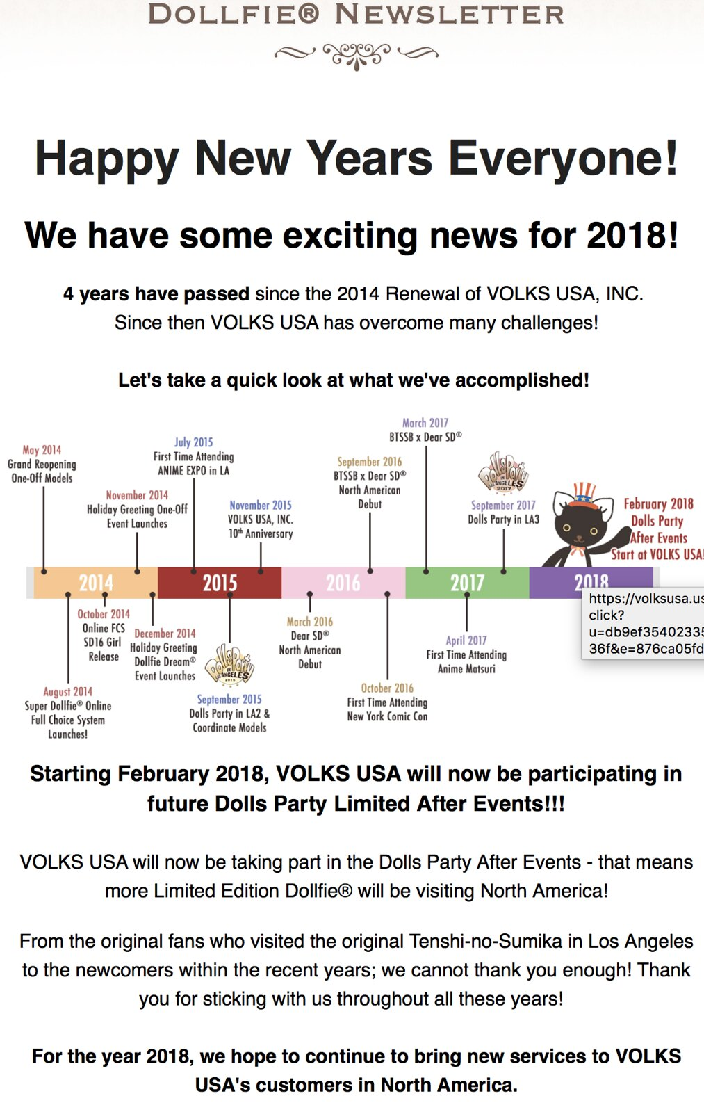 Volks USA Announcement