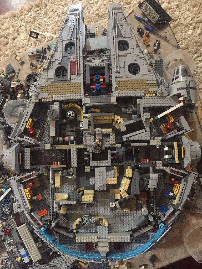 Full interior of Millennium Falcon. Hallways not finished completely yet.
