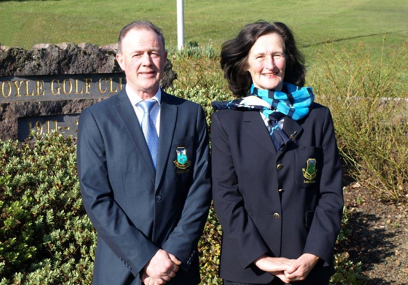 Boyle Golf Club Captains for 2018, Terry Canning and Marie Hanmore-Cawley