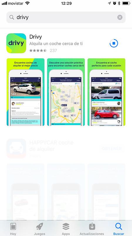 DRIVY LA APP PARA ALQUILAR COCHES ENTRE PARTICULARES app española de alquiler coche