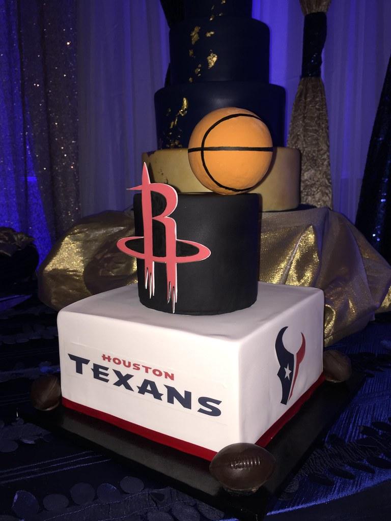 Houston Rockets And Texans Cake