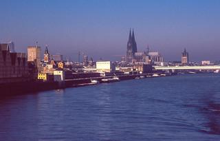Rheinauhafen im Jahr 2000 ohne Kranhäuser