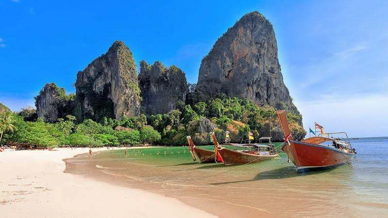 Pantai Railay, Krabi, Thailand.