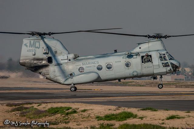 154855 USMC | Boeing Vertol CH-46F Sea Knight | Memphis International Airport