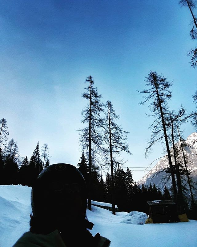 Back skiing #snow #ski #sky #trees #mountains #sport #winter #gressoney #monterosa #igers #igersitalia #instagood #Italy #Alps #blue