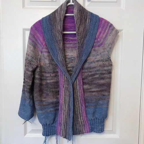 Sue2Knits Comfort Fade Cardi WIP - February 23, 2018 - Front