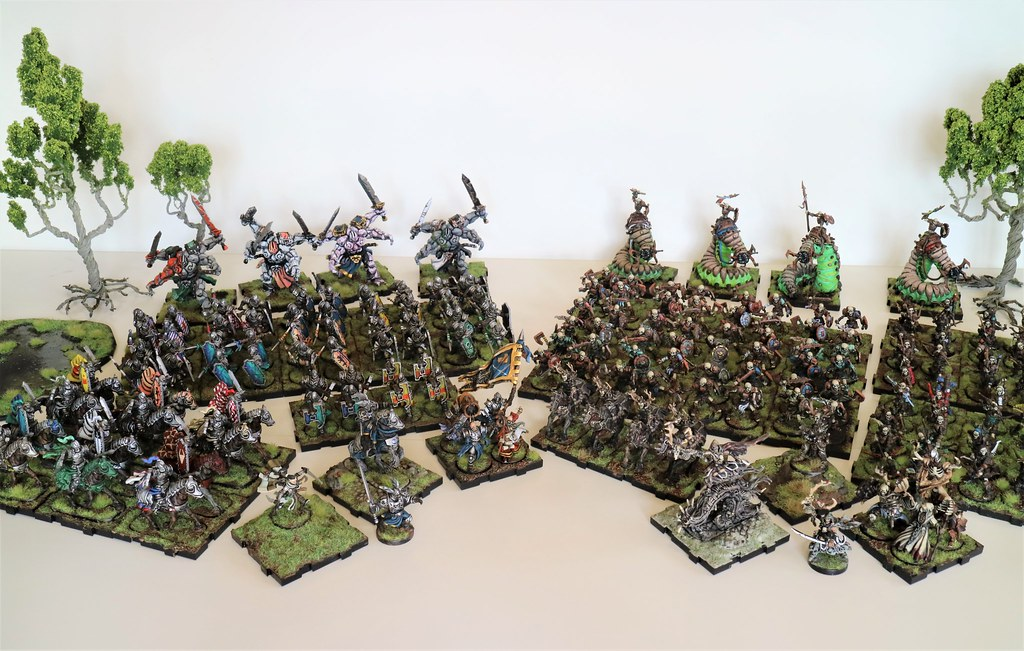 Runewars Miniatures Daqan and Waiqar Army