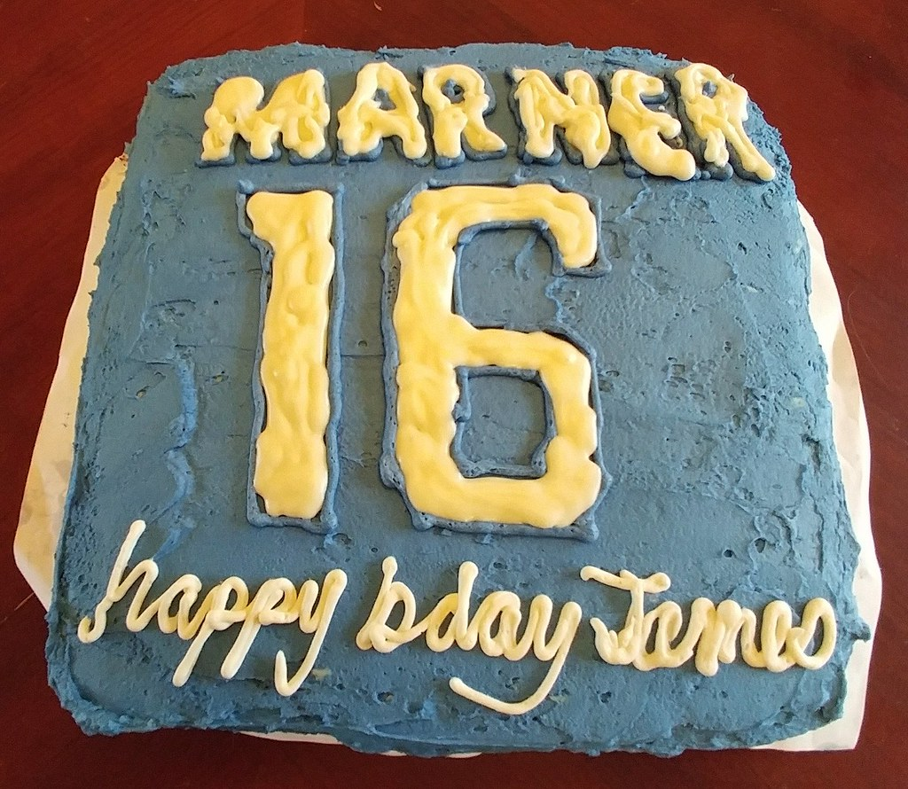 James's 16th birthday cake