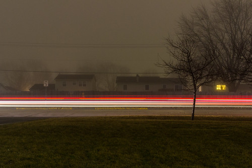 Foggy Light Trails 2