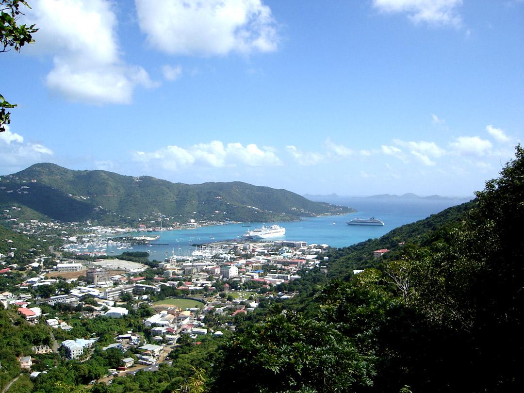Road Town, Tortola. Photo taken on January 17, 2006.