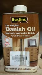 "Lacklustre / ""low lustre""  finish from #Rustins Danish Oil #Lacklustre"