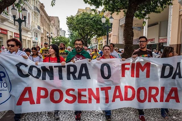 Manifestação contra reforma da previdência
