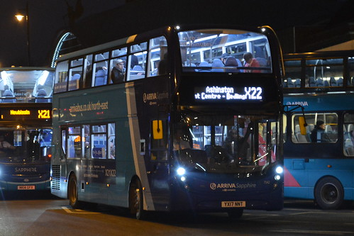7542 YX17 NNT Arriva North East Sapphire