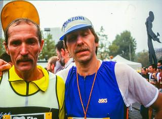 Karlheinz und Josef im Ziel des Frankfurt-Marathons