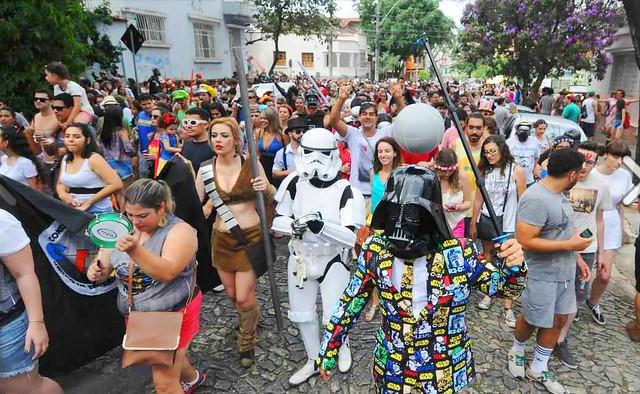 Os fãs dos filmes Star Wars organizaram um bloco caricato em terras mineiras - Créditos: Divulgação