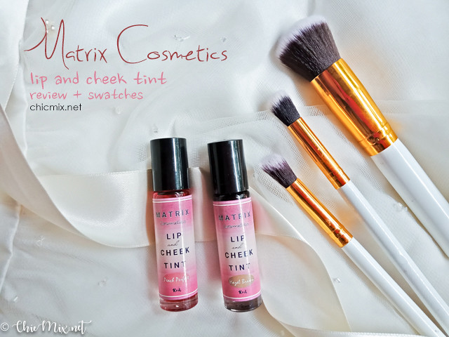 Matrix Cosmetics Lip and Cheek Tint Review and Swatches
