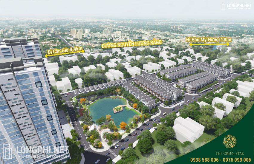 Phối cảnh tổng thể dự án biệt thự Hưng Phát Green Star quận 7.