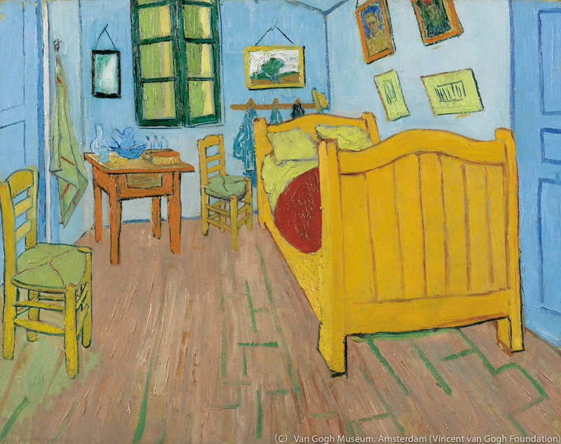フィンセント・ファン・ゴッホ《寝室》(1888年、ファン・ゴッホ美術館[フィンセント・ファン・ゴッホ財団])