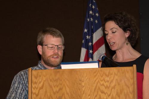 Superior Mayor Jim Paine and Duluth Mayor Emily Larson