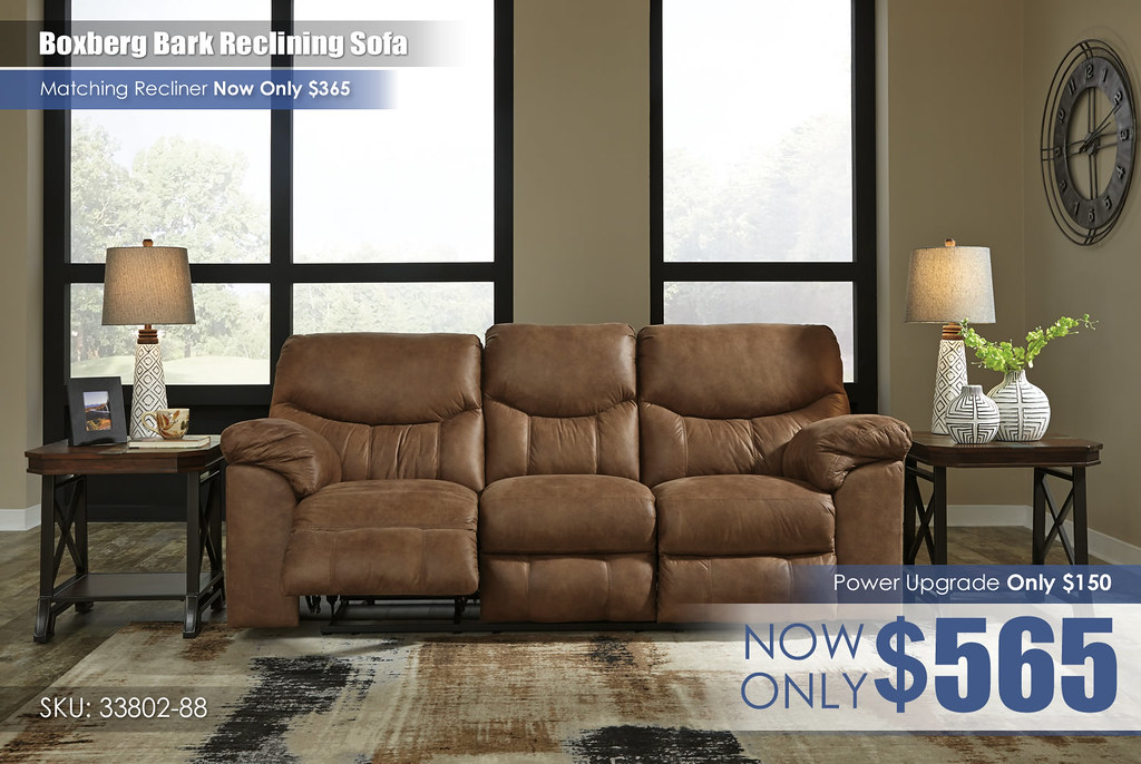 Boxberg Bark Reclining Sofa_33802-88-SET