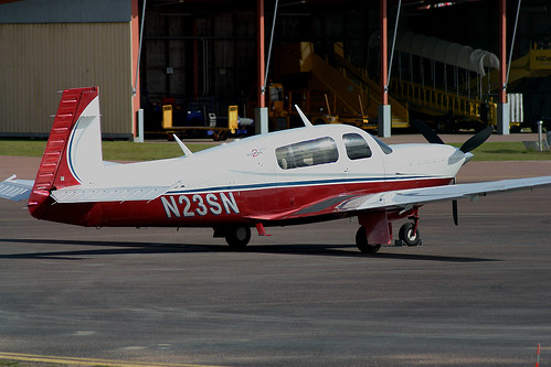 N23SN Mooney M20R Ovation 2 at Karlstad ESOK