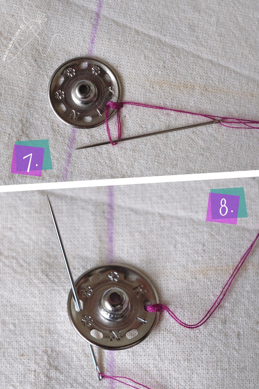 marchewkowa, blog, szycie, sewing, rękodzieło, handmade, tutorial, instrukcja, sew on snaps, przyszywanie zatrzasek, zapiecie, odzież