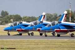 E114 2 F-TERR - E114 - Patrouille de France - French Air Force - Dassault-Dornier Alpha Jet E - RIAT 2010 Fairford - Steven Gray - IMG_9436