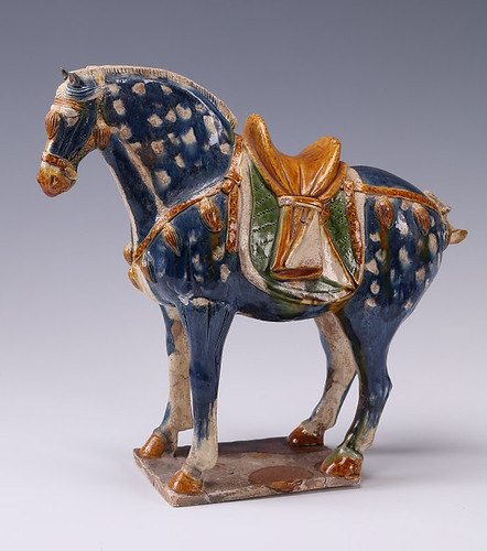 Sancai glazed horse of Tang dynasty