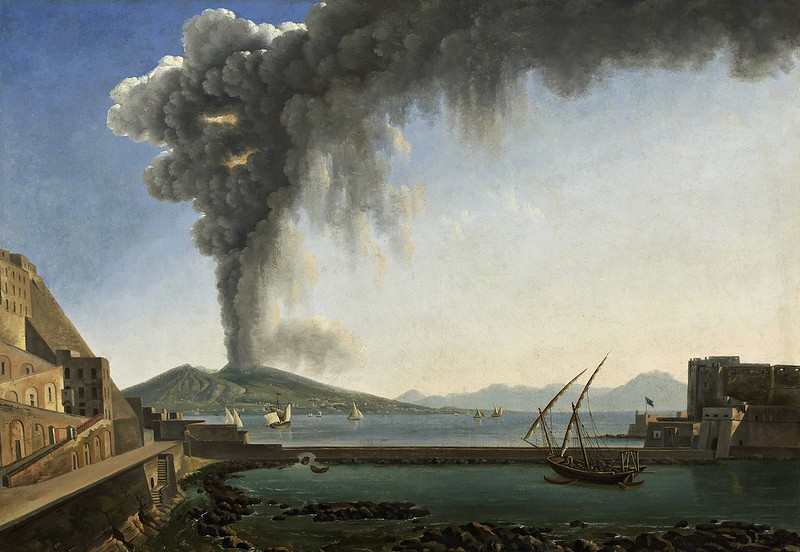 Alexandre-Hyacinth Dunouy - The Eruption of Vesuvius in the Year 1813 (c.1817)