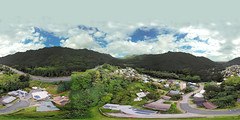 From Kalihi Valley shot from my Mavic Pro hovering 273 feet up - an aerial 360° Equirectangular VR