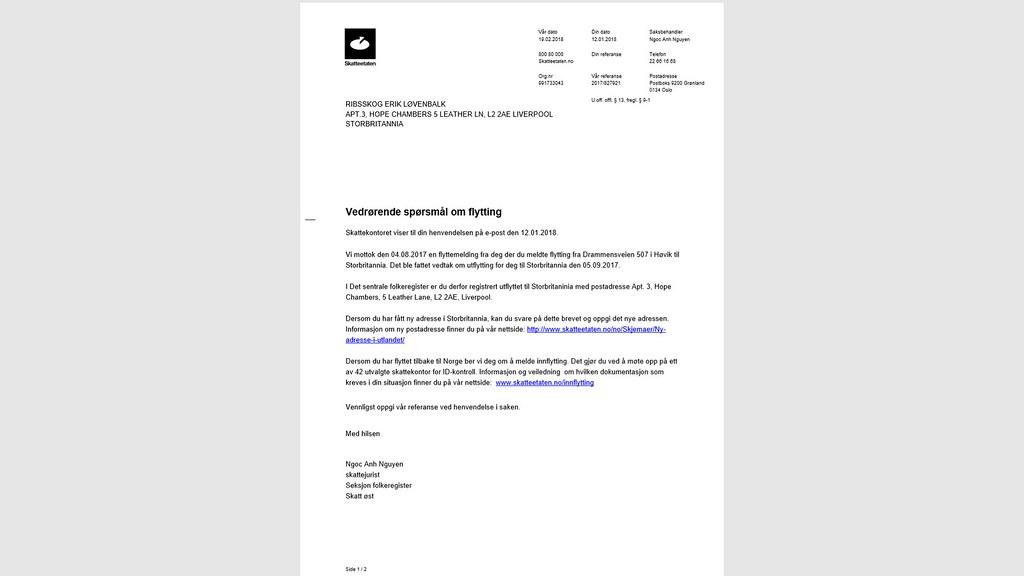 skatteetaten e-brev