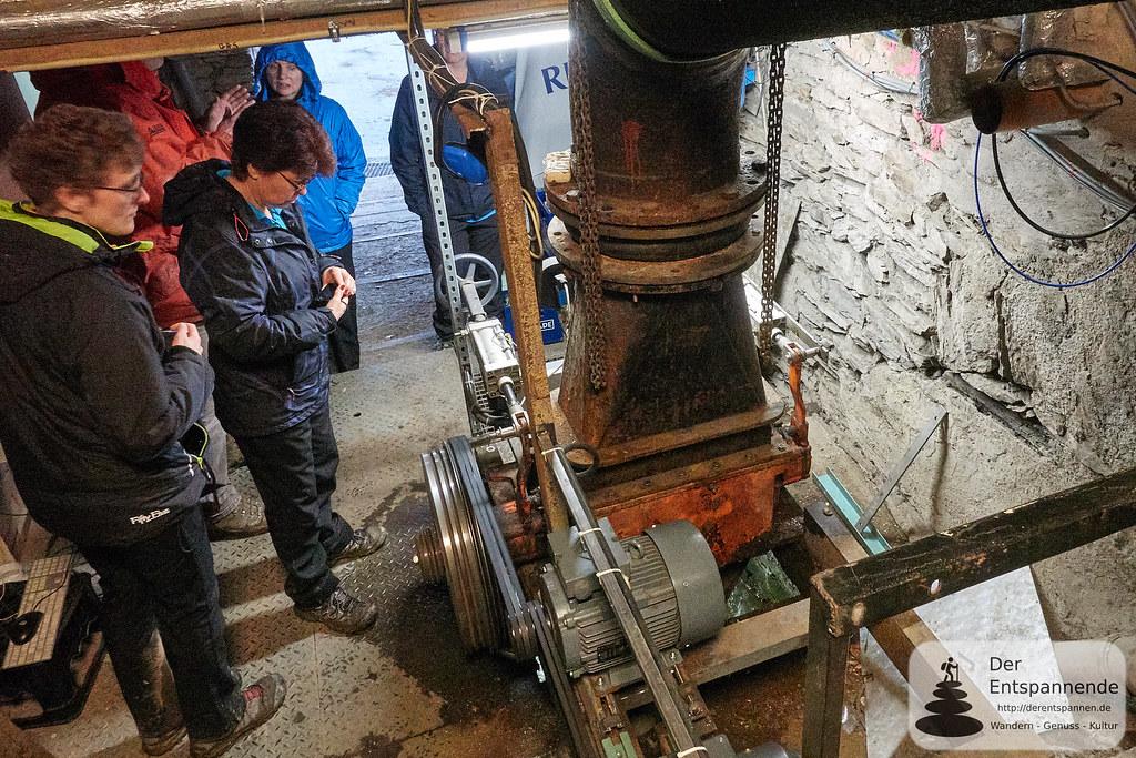 Turbine und Generator zur Stromerzeugung der Strotzbüscher Mühle