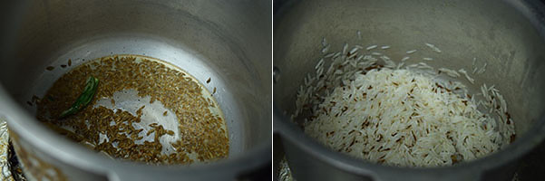 Jeera / Cumin Rice cooking steps by GoSpicy.net