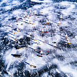 International DN Ice Yacht Racing Lake Charlevoix
