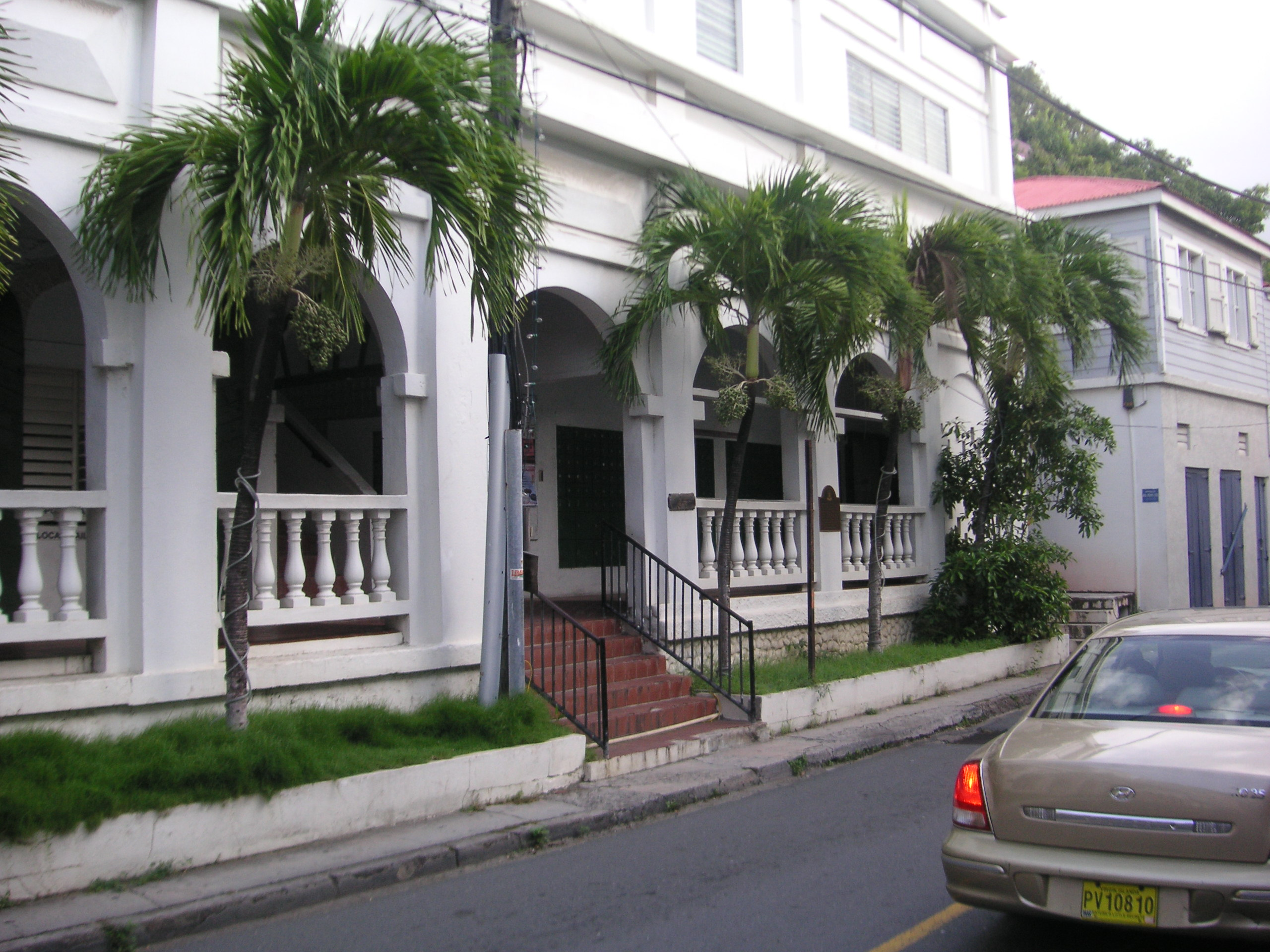 The Old Post Office on Main Street in Road Town, Tortola. Photo taken on August 10, 2006, by Colin Riegels.