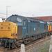 37170 + 37160 Warrington Bank Quay 9th September 1987.