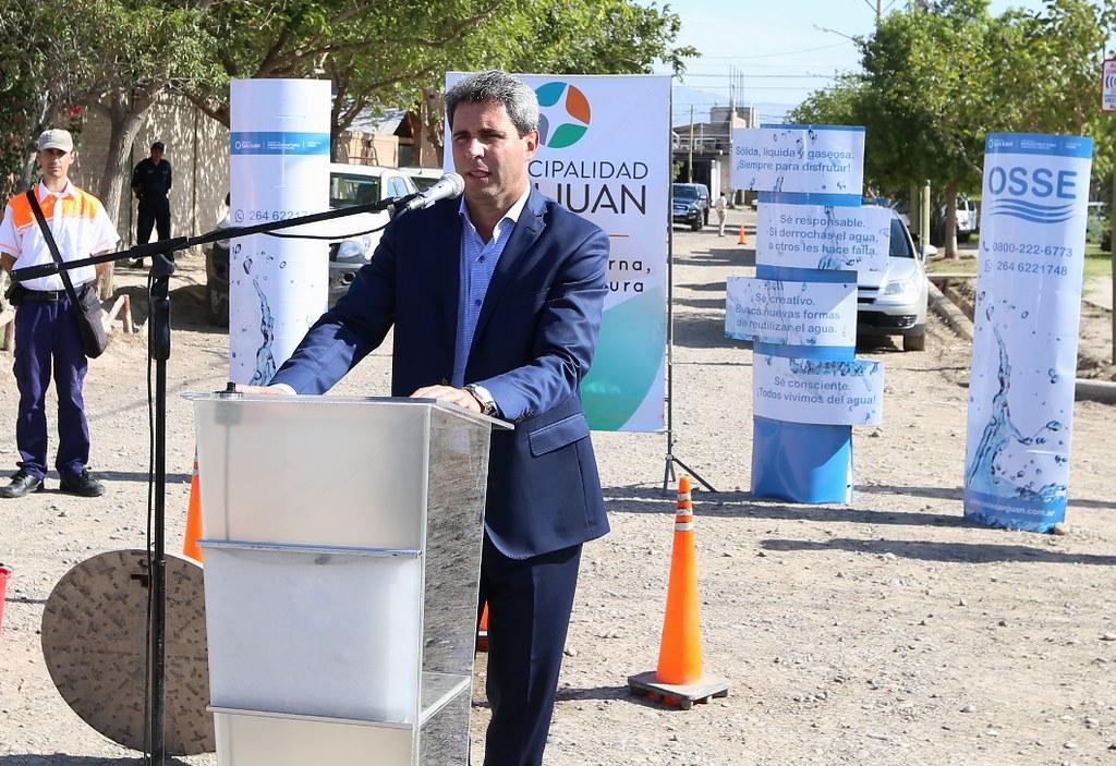 San Juan: Inauguraron la ampliación de red cloacal en el barrio Colón