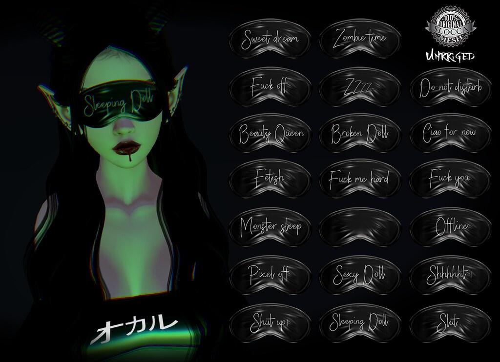 + Occult + Sleeping Mask Dark - TeleportHub.com Live!