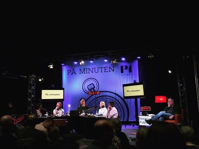 monday, audience at the radio show på minuten, swedish radio, stockholm