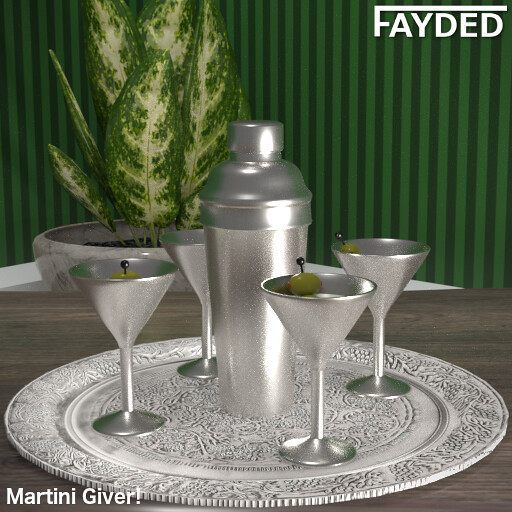 FAYDED – Martini Set Silver