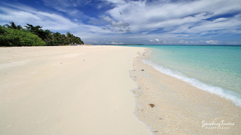 the wide, white sand beach near Marlin's Resort, Bantayan Island