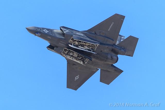 A Lockheed Martin F-35B Lightning II of VMFA-211