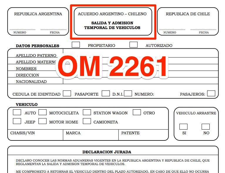 Formulario OM-2261