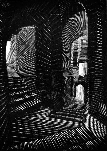 Covered Alley in Atrani (1931) - Maurits Cornelis Escher (1898 - 1972)
