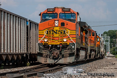 BNSF 4697 | GE C44-9W | BNSF Thayer South Subdivision