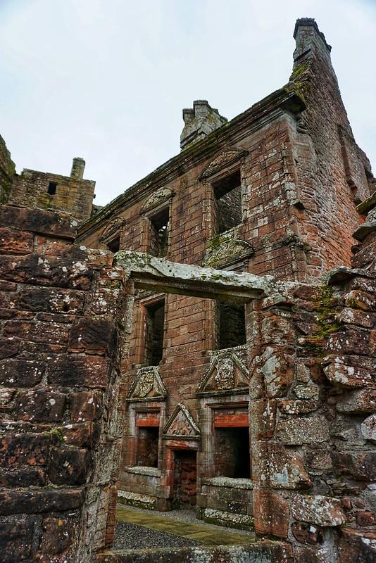 Empty rooms at Caerlaverock Castle in Dumfries